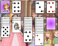 Sofia the first solitaire online játék